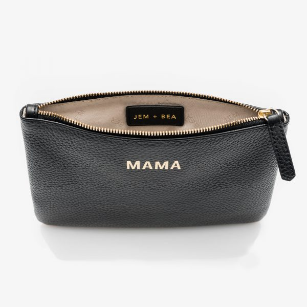 Jem+Bea Mama Clutch Black Inside
