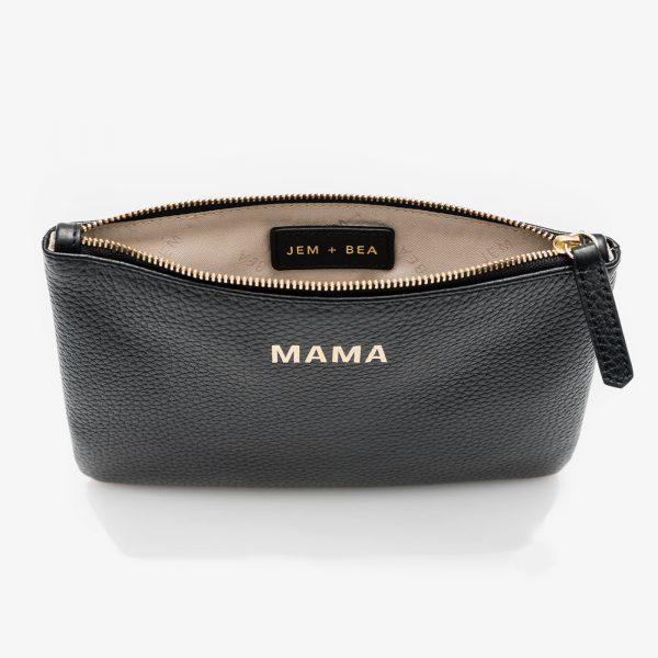 Jem+Bea Mama Clutch Black Inside