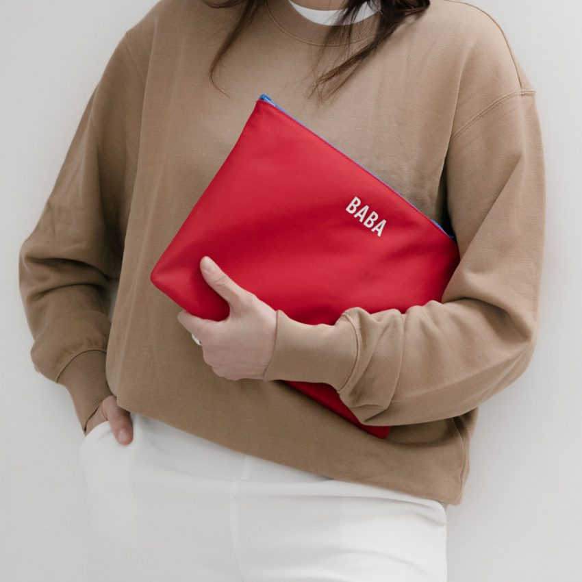 Jem+Bea Baba Pouch Red Lifestyle Image