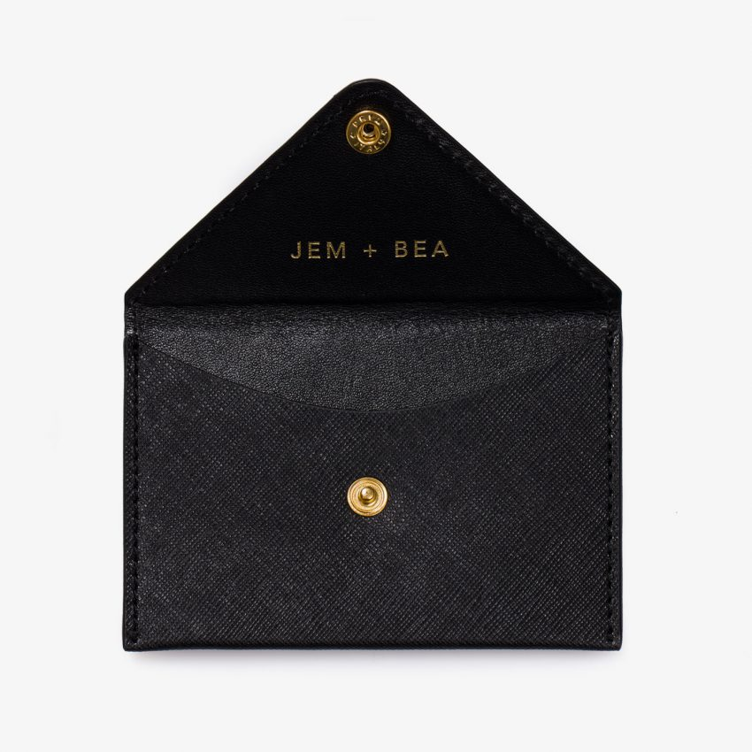 Jem+Bea Personalised Black Saffiano