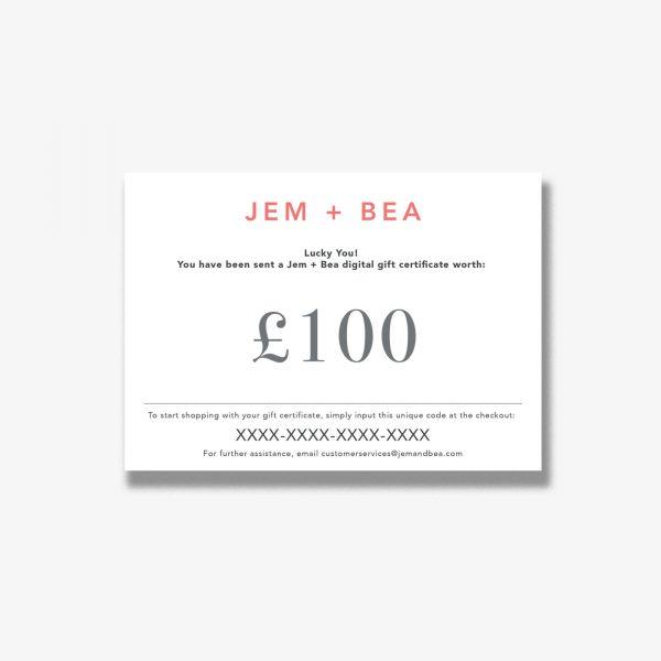 Jem+Bea Gift Voucher 100