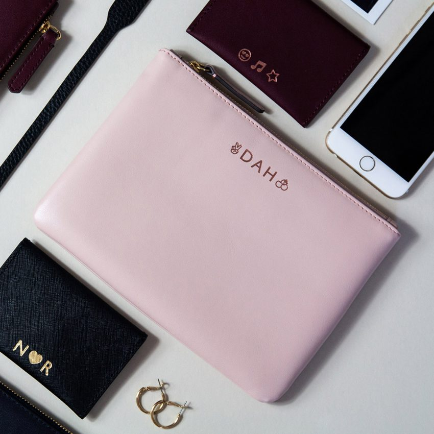 Jem+Bea Personalised Clutch Blush