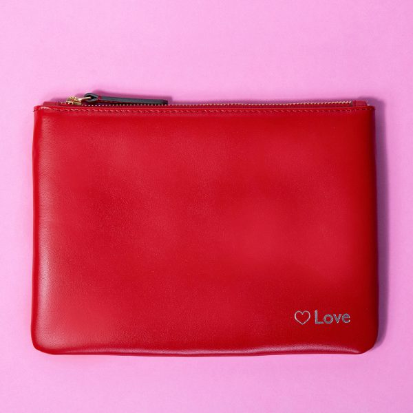 Jem+Bea Personalised Clutch Red