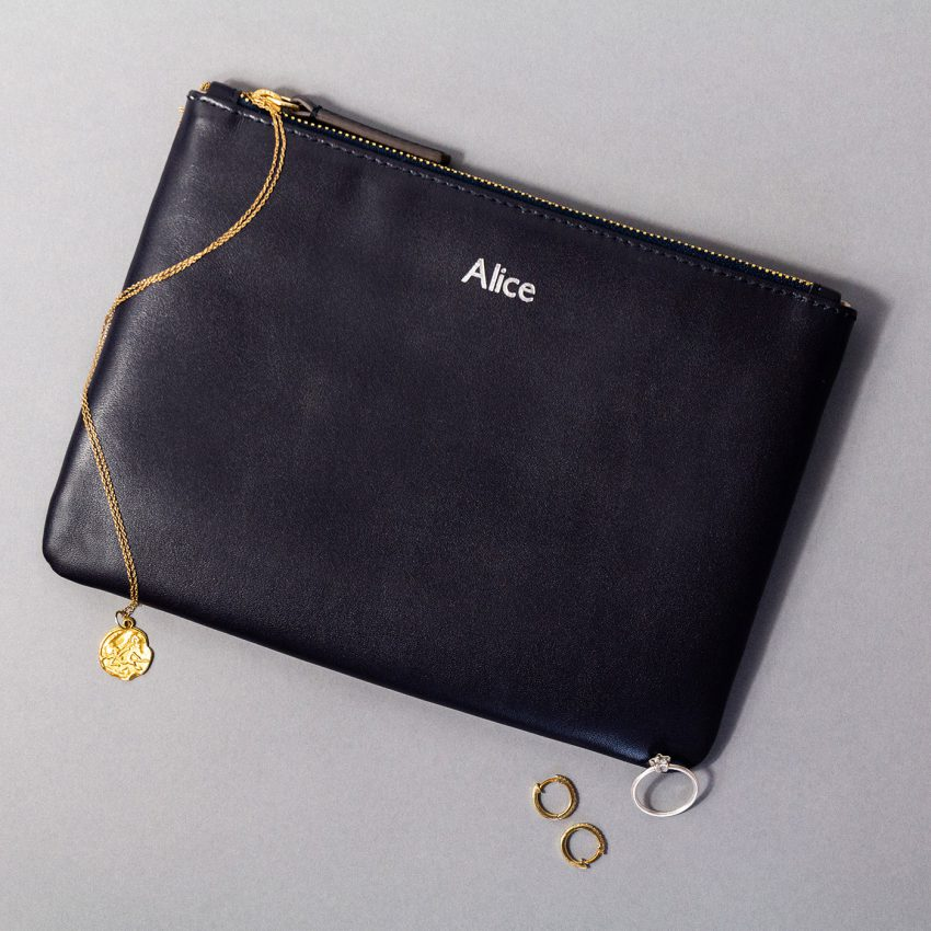 Jem+Bea Personalised Clutch Navy