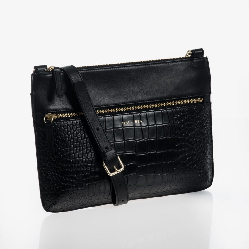 Jem+Bea Farah Black bag front