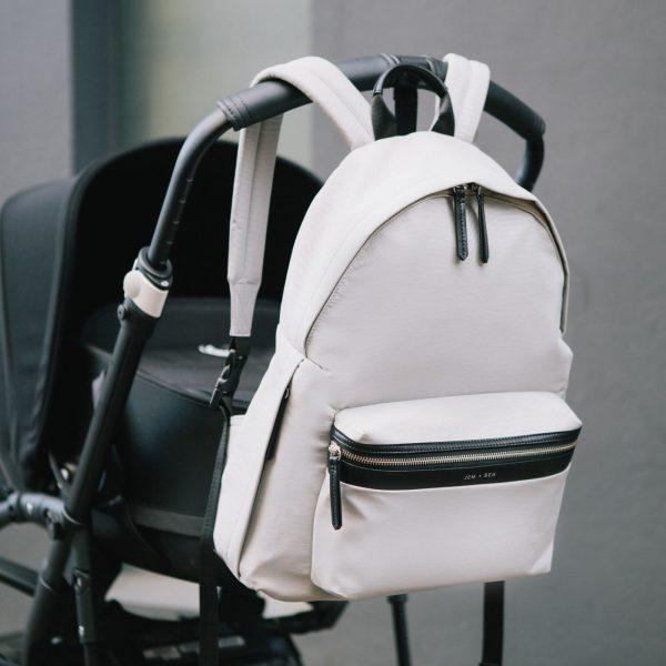 Jem+Bea Jamie Grey Python Backpack