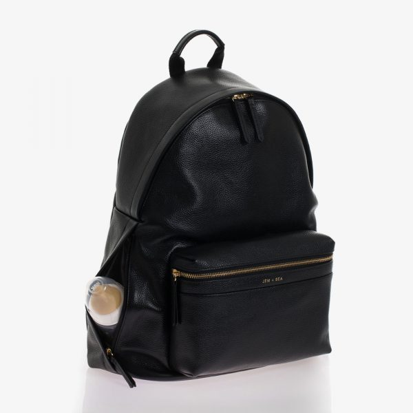 Jem+Bea Jamie Black Leather Backpack