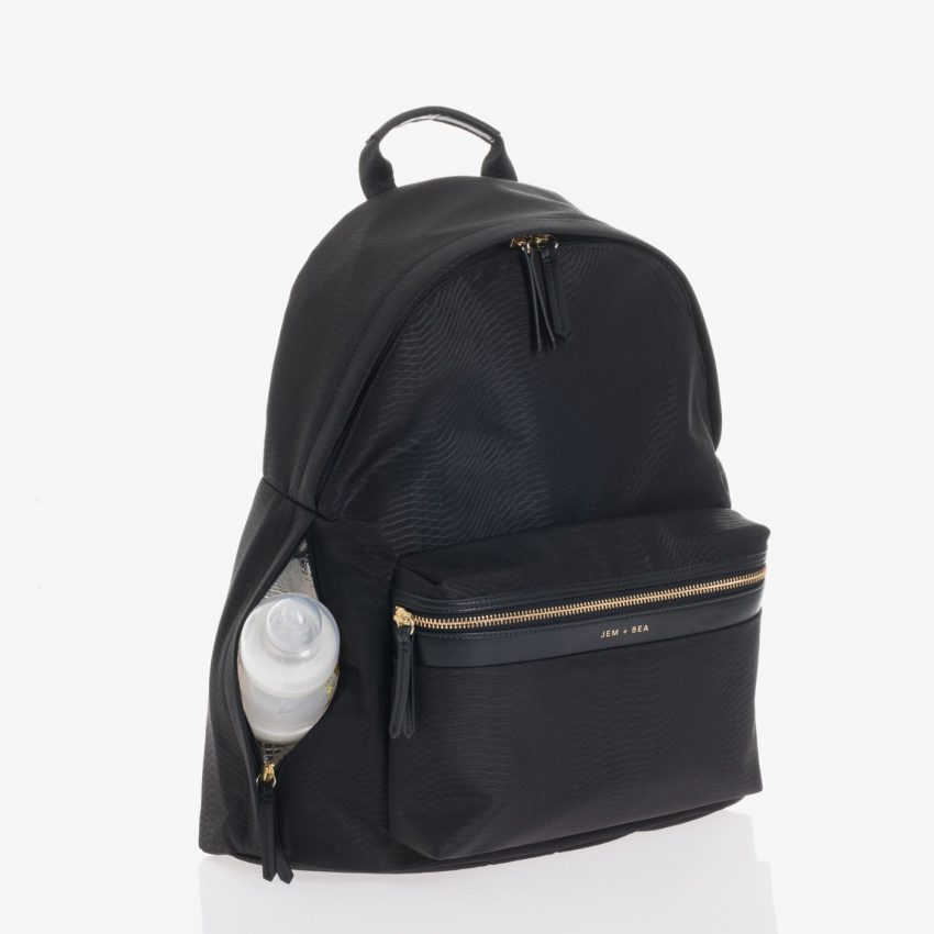 Jem+Bea Jamie Black Python Backpack