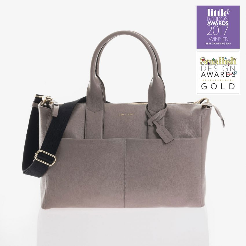 Jem+Bea Jemima Grey Leather Bag