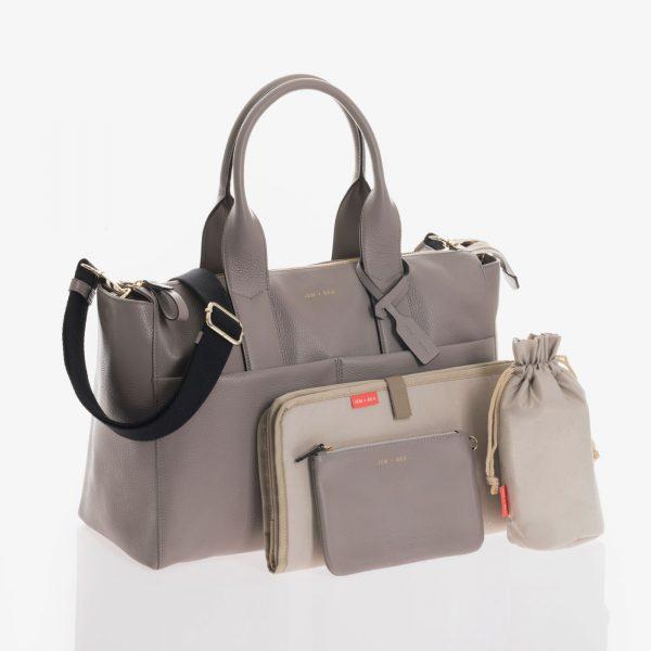 Jem+Bea Jemima Grey Leather Bag