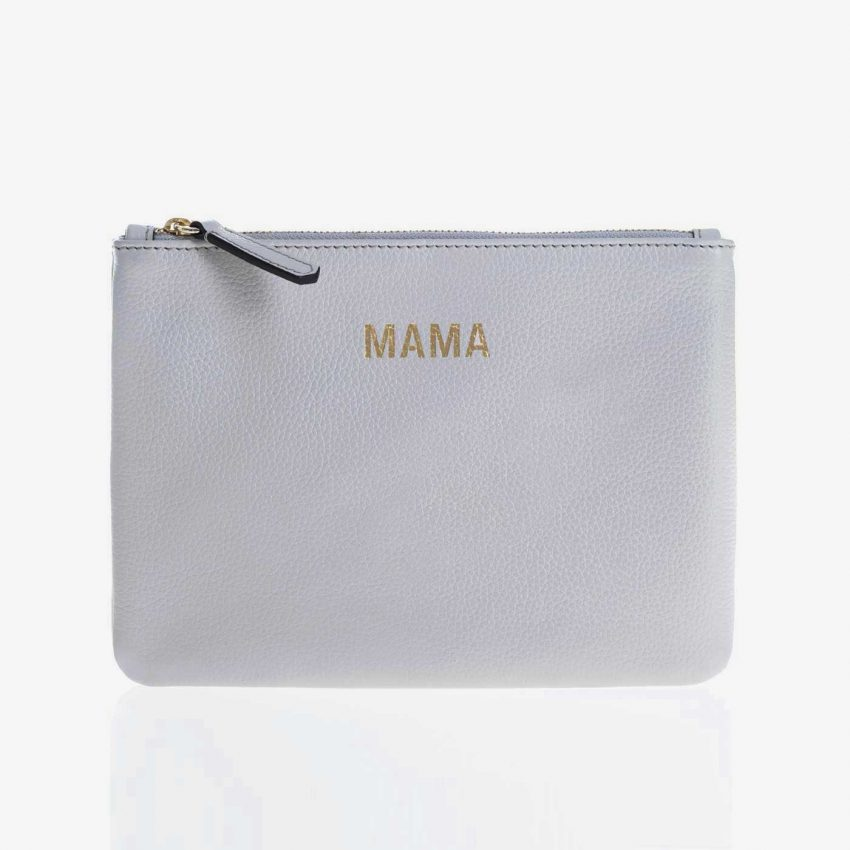 Jem+Bea MAMA Clutch Grey white