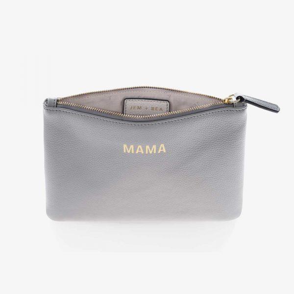 Jem+Bea MAMA Clutch Grey white