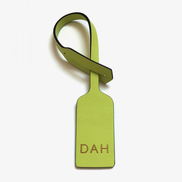 Jem+Bea Personalised Oversize Tag Chartreuse