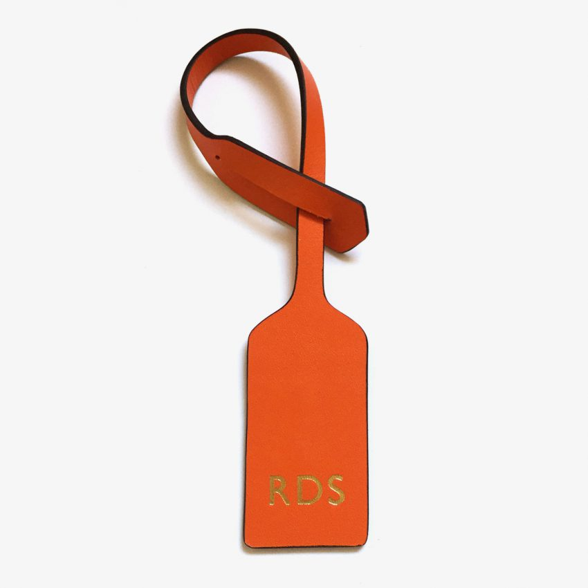 Jem+Bea Personalised Oversize Tag Orange
