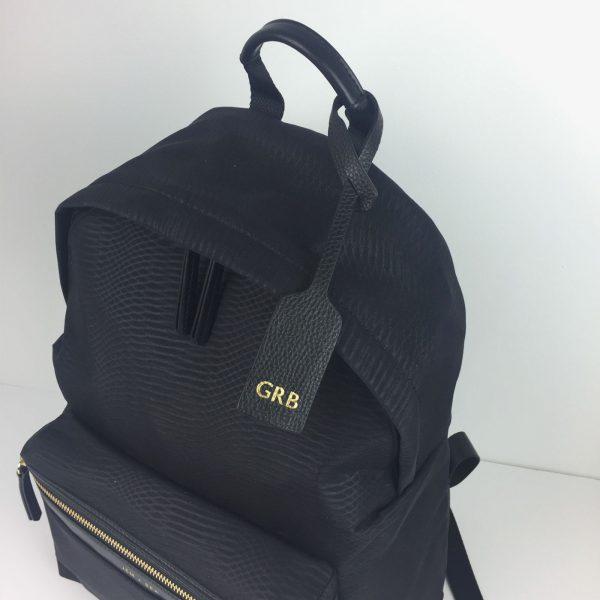 Jem+Bea Personalised Oversize Tag Black