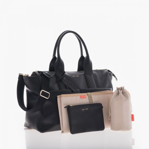 Jem+Bea Jemima Black Leather Bag