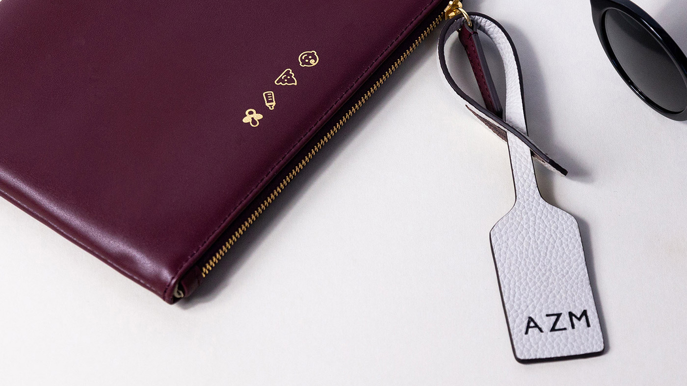 Jem + Bea Personalised Clutch in Burgundy