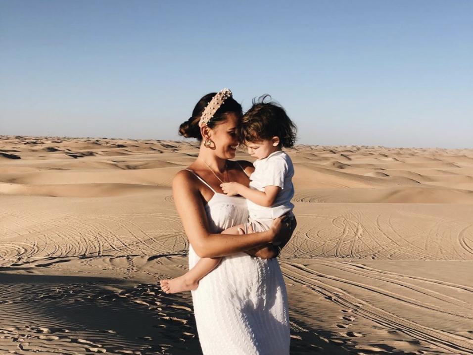 Megan Stevens with son Rudi